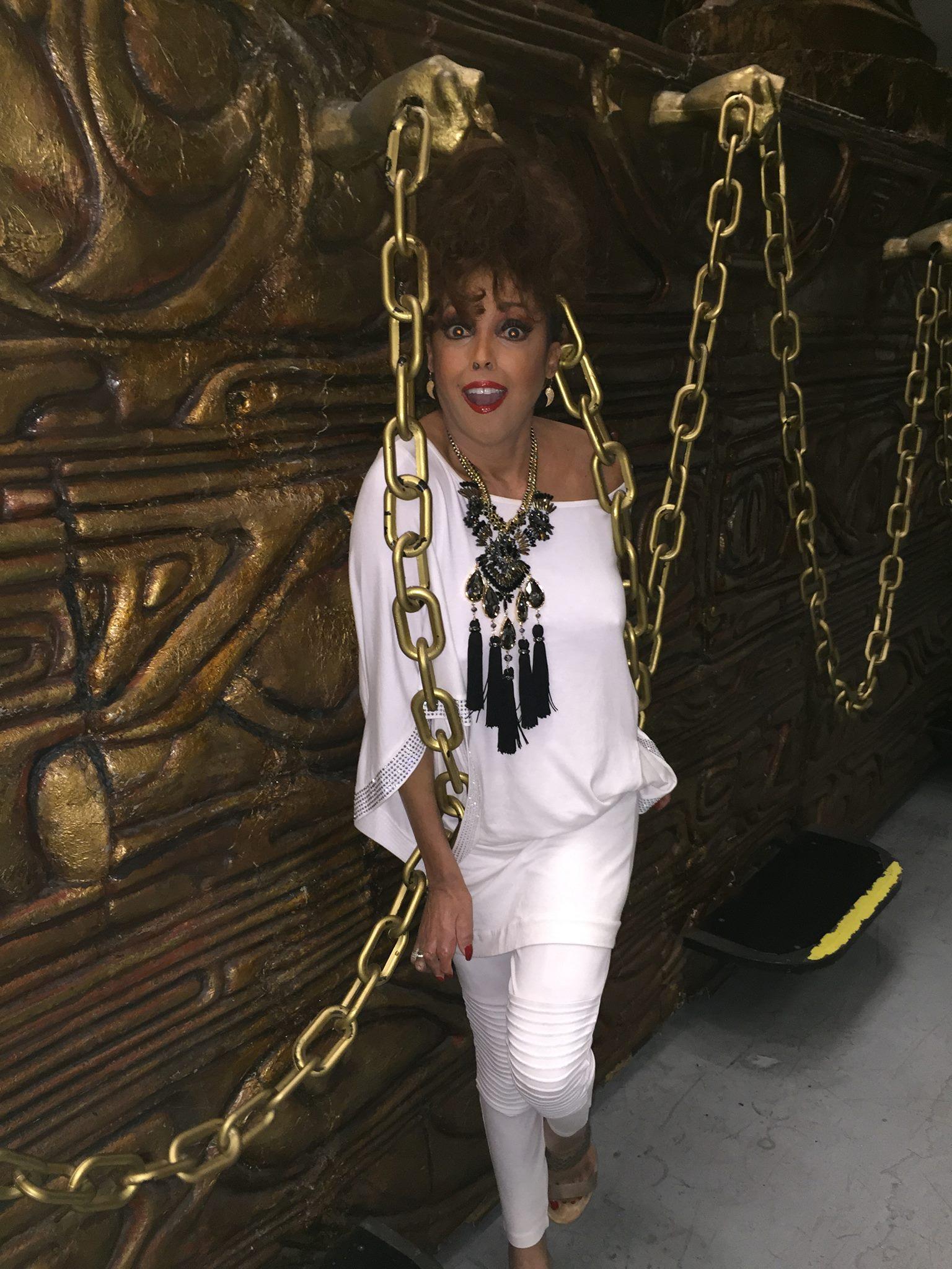 Jakki Ford Backstage at Samson & Delilah