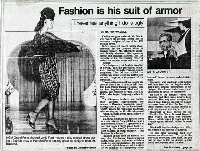 Fashion Newspaper Articles Fashion Article in The Las