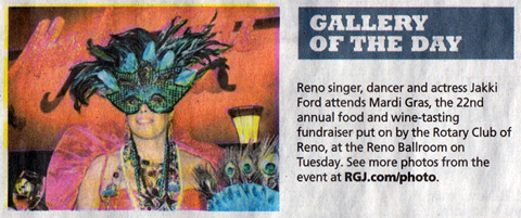 Jakki Ford Mardi Gras Gallery of the Day for RGJ