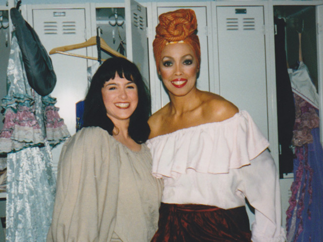 Jakki Ford Backstage with Cast Member