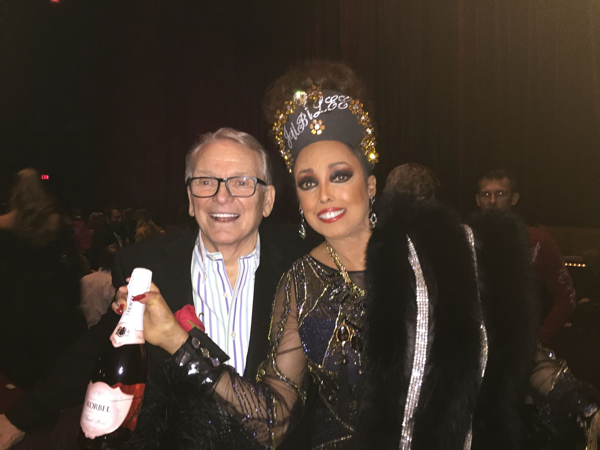Jakki Ford Posing with Bob Mackie