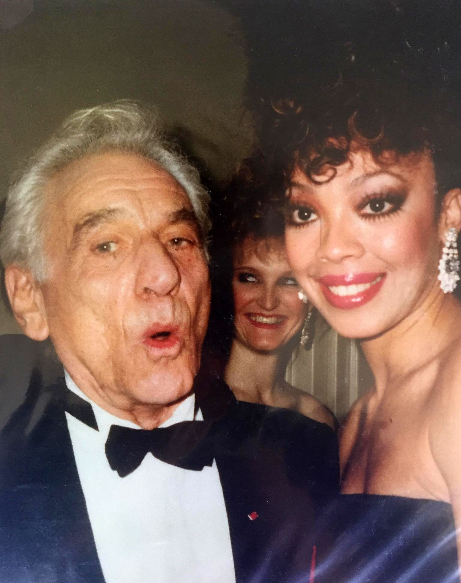 Jakki Ford Posing with Leonard Bernstein
