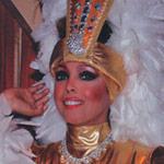 Jakki Ford Posing in Josephine Baker-style Costume 2