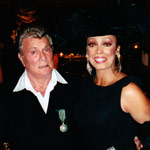 Jakki Ford Posing with Tony Curtis