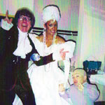 Jakki Ford Posing with Austin Powers and Mini Me
